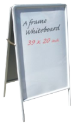 Make your markerboard really stand out with this white board.  Use the same liquid chalk or neon markers but against a white background.  Depending on your business location white my be much more suited than black.