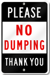 Please No Dumping Sign