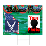 Air Force Welcome Home Sign in Camo