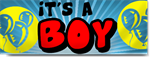 Its a Boy Banner in Blue