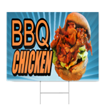 """72"""" BARBECUE CHICKEN BANNER SIGN smoked bbq grill fire Bar ...   Bbq Chicken Sign"""