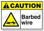 Barbed Wire3 Caution Signs