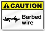 Barbed Wire4 Caution Signs