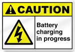 Battery Charging In Progress Caution Signs