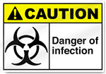 Danger Of Infection Caution Signs