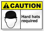 Hard Hats Required Caution Signs