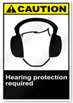 Hearing Protection Required Caution Signs