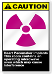 Heart Pacemaker Implants This Room Contains An Operating Microwave Oven Which May Cause Interference Caution Signs