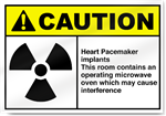 Heart Pacemaker Implants This Room Caution Signs