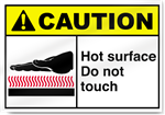 Caution Hot Surface Safety Signs - Safety Signs & Label from BiGDUG UK