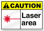 Laser Area Caution Signs