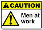 Men At Work Caution Signs