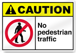 No Pedestrian Traffic Caution Signs