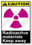Radioactive Materials Keep Away Caution Signs