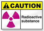 Radioactive Substance Caution Signs