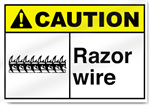 Razor Wire2 Caution Signs