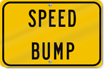 Horizontal Speed Bump Sign