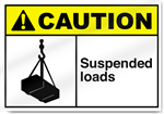 Suspended Loads Caution Signs