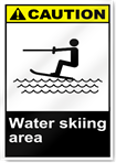 Water Skiing Area Caution Signs