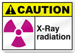 X-Ray Radiation Caution Signs