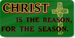 Christian Christmas Reason Magnetic Door Sign