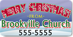 Merry Christmas Holiday Magnetic Sign