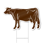 Cow Shaped Sign