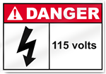 115 Volts Danger Signs