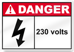 230 Volts Danger Signs