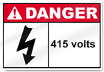 415 Volts Danger Signs