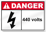 440 Volts Danger Signs