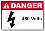 480 Volts Danger Signs