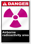 Airborne Radioactivity Area Danger Signs