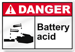 Battery Acid Danger Signs