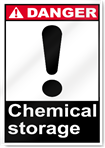 Chemical Storage Danger Signs