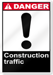 Construction Traffic Danger Signs
