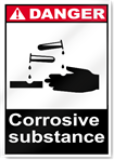 Corrosive Substance Danger Signs