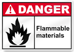 Flammable Materials Danger Signs