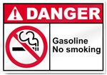 Gasoline No Smoking Danger Signs