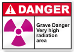 Grave Danger Very High Radiation Area Danger Signs