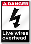 Live Wires Overhead Danger Signs