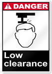 Low Clearance Danger Signs