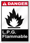 L.P.G. Flammable Danger Signs