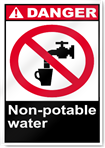 Non-Potable Water Danger Signs