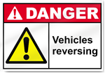 Vehicles Reversing Danger Signs