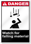 Watch For Falling Material Danger Signs