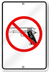 No Gun Zone Aluminum Sign