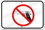 Horizontal No Gun Zone Sign