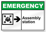 Assembly Station Right Emergency Signs
