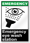 Emergency Eye Wash Station Emergency Signs